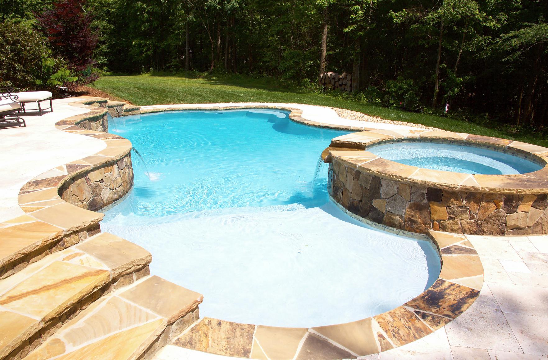 High end Charlotte NC inground swimming pool designer CPC ...