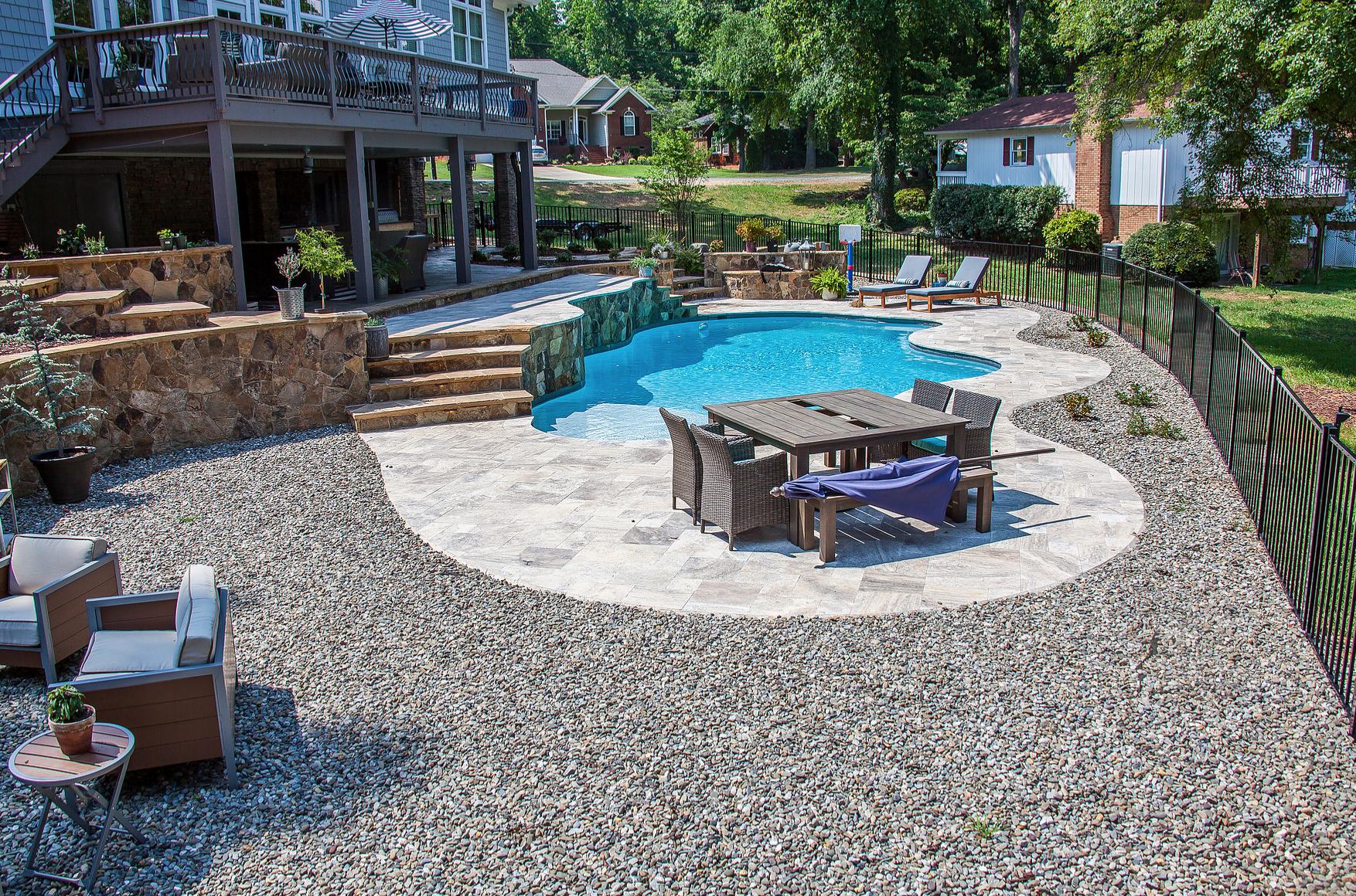 Cornelius North Carolina Custom Inground Concrete Pools from CPC Pools Call 704-799-5236