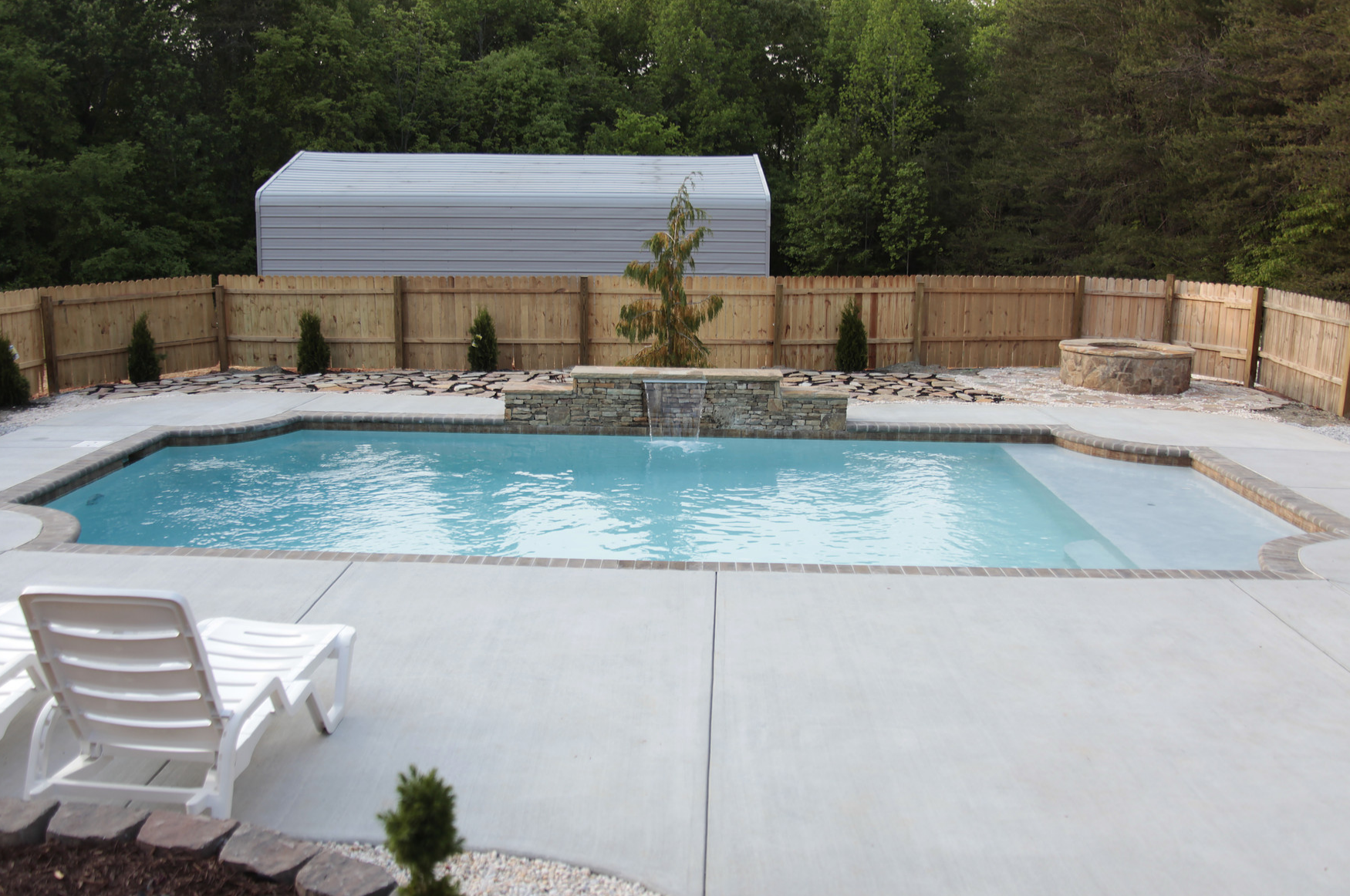 Custom Cornelius concrete swimming pool builder CPC Pools ...