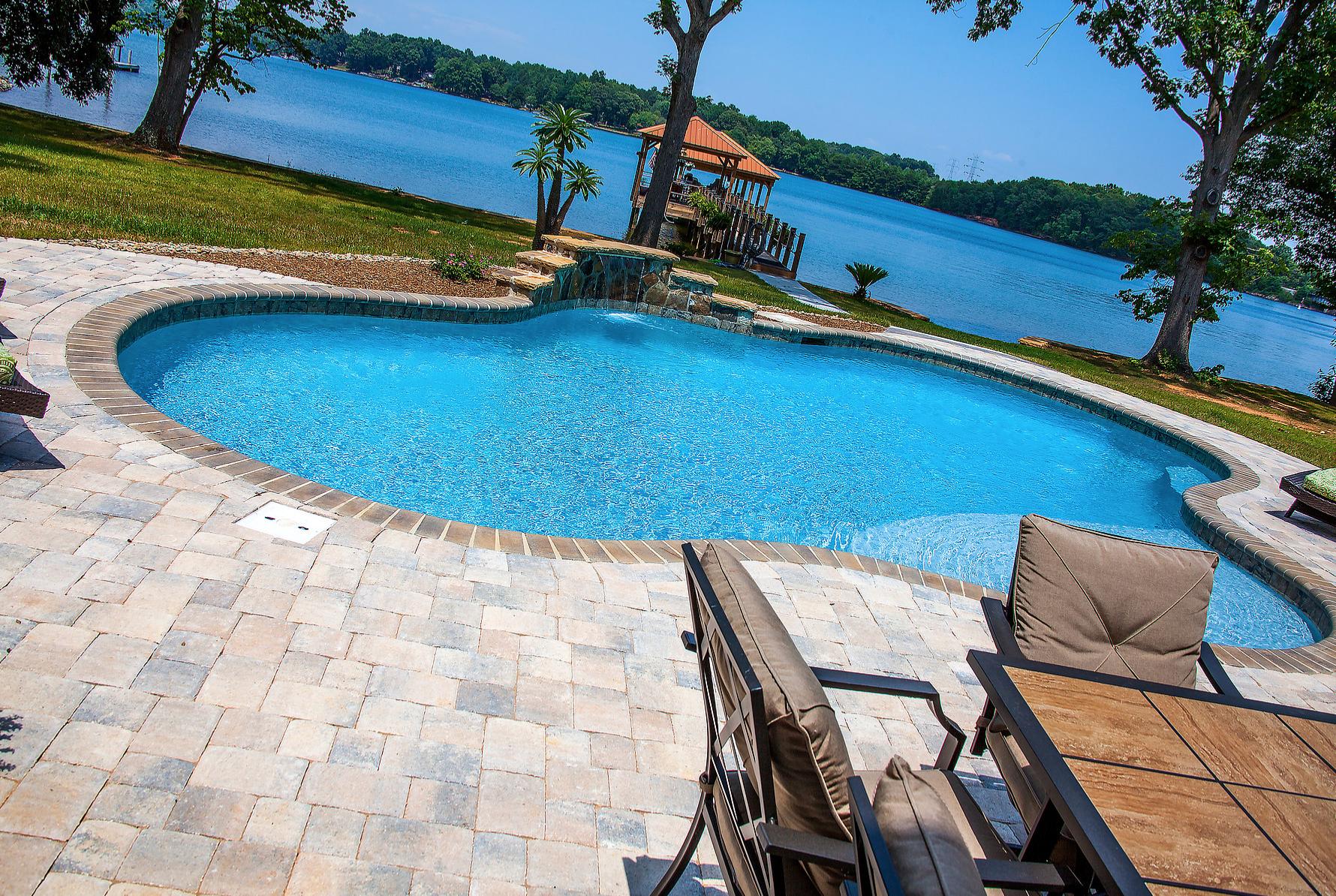 Inground Concrete Pools Installed in Cornelius North Carolina 704-799-5236 by CPC Pools