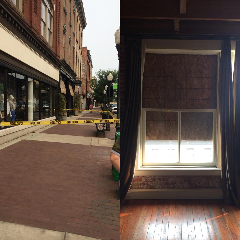 Commercial Structural Repair Job Removing Rotten Window Sash Savannah Ga