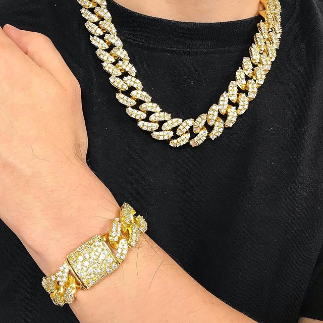 Ice medley cuban chain, pure fire and only available from Hip Hop Bling