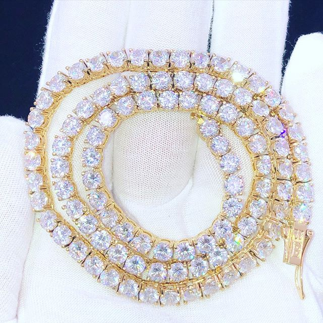 Diamond tennis chain and custom jewelry, get yours from HipHopBling.com