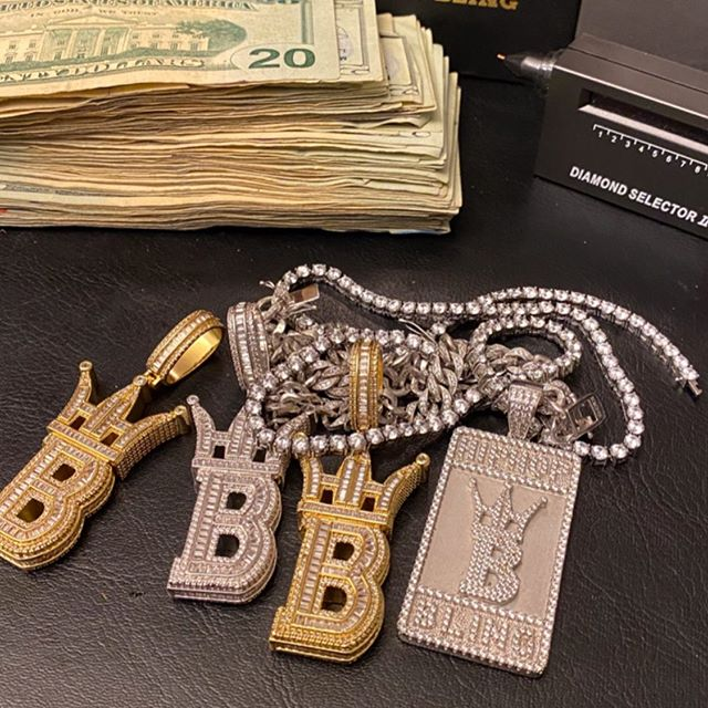 Iced out fun day, get your own custom pendants today from HipHopBling.com