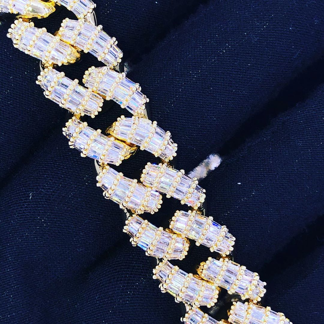Brand new baguette chains, not a single round stone in there - HipHopBling.com