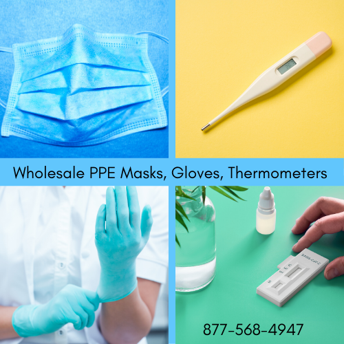 Global WholeHealth Partners  Best Wholesale PPE Supplies Masks Gloves Thermometers 877-568-4947