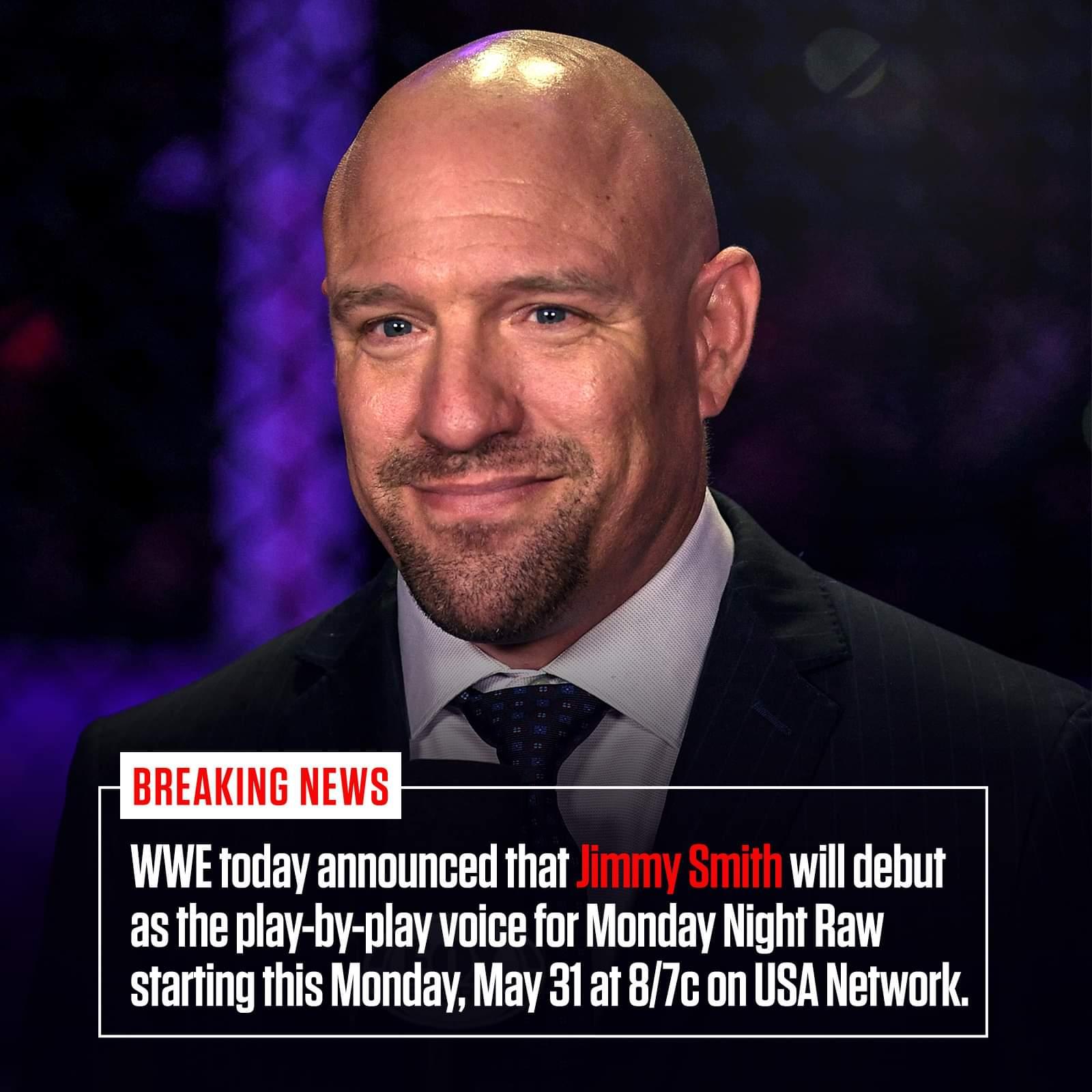Welcome to WWE Raw, Jimmy Smith!