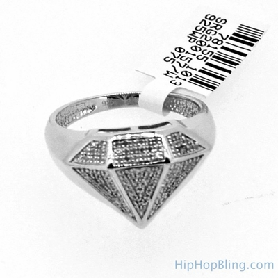 Diamond Shape 18cttw Real Diamond Ring