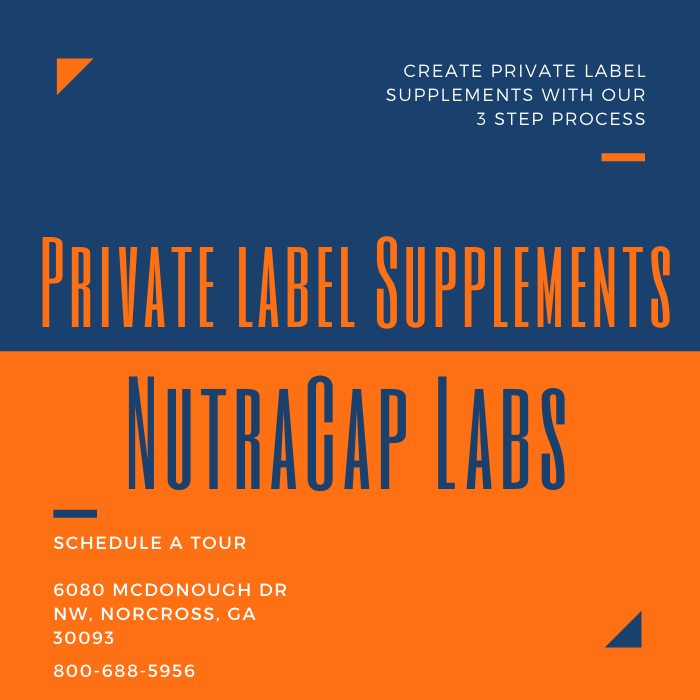 Private Label Supplements Manufacturer NutraCap Labs 800-688-5956