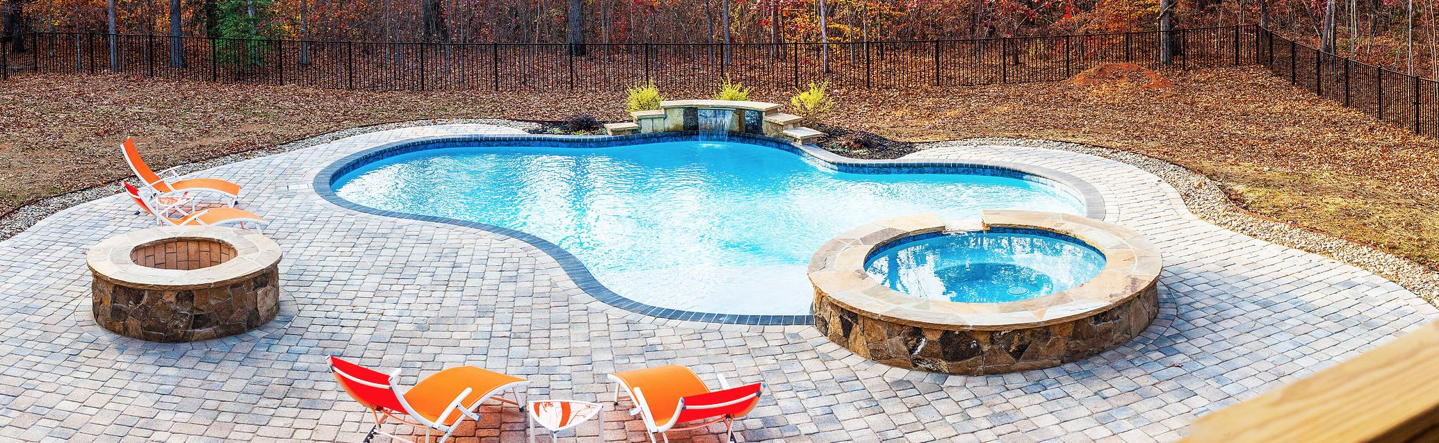 Iron Station NC Inground Custom Luxury Concrete Swimming Pools - CPC Pools 704-799-5236