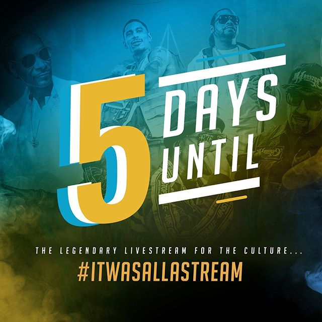 Less than 5 days until It Was All A Stream kicks off, be there - Layzie Bone