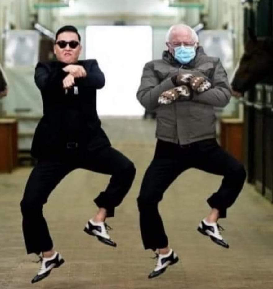Bernie gangnam style!