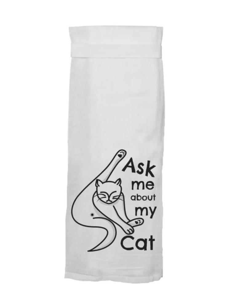 Funny Cat Novelty Kitchen Towels For Sale By Twisted Wares 214-491-4911