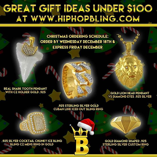 Catch that drip with new custom pieces for the holidays from Hip Hop Bling