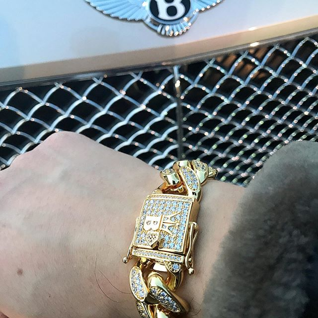 Cuban link chains and bracelets from HipHopBling.com are absolute fire