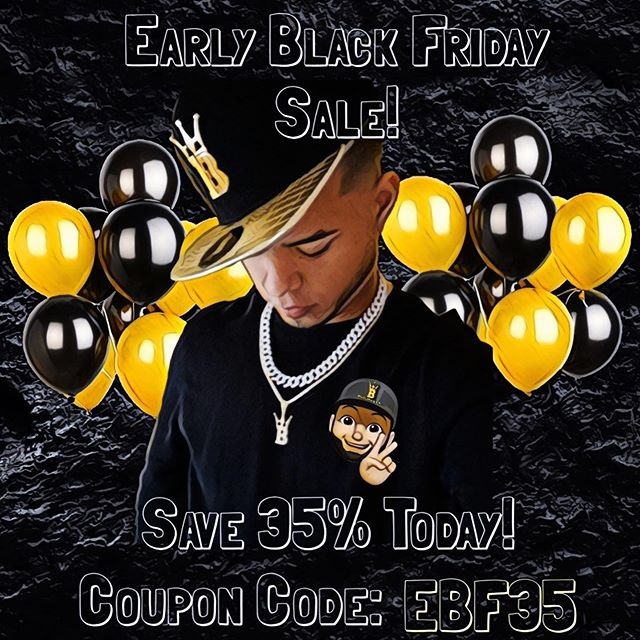 Black Friday Sales go up early, get your iced out merch from Hip Hop Bling