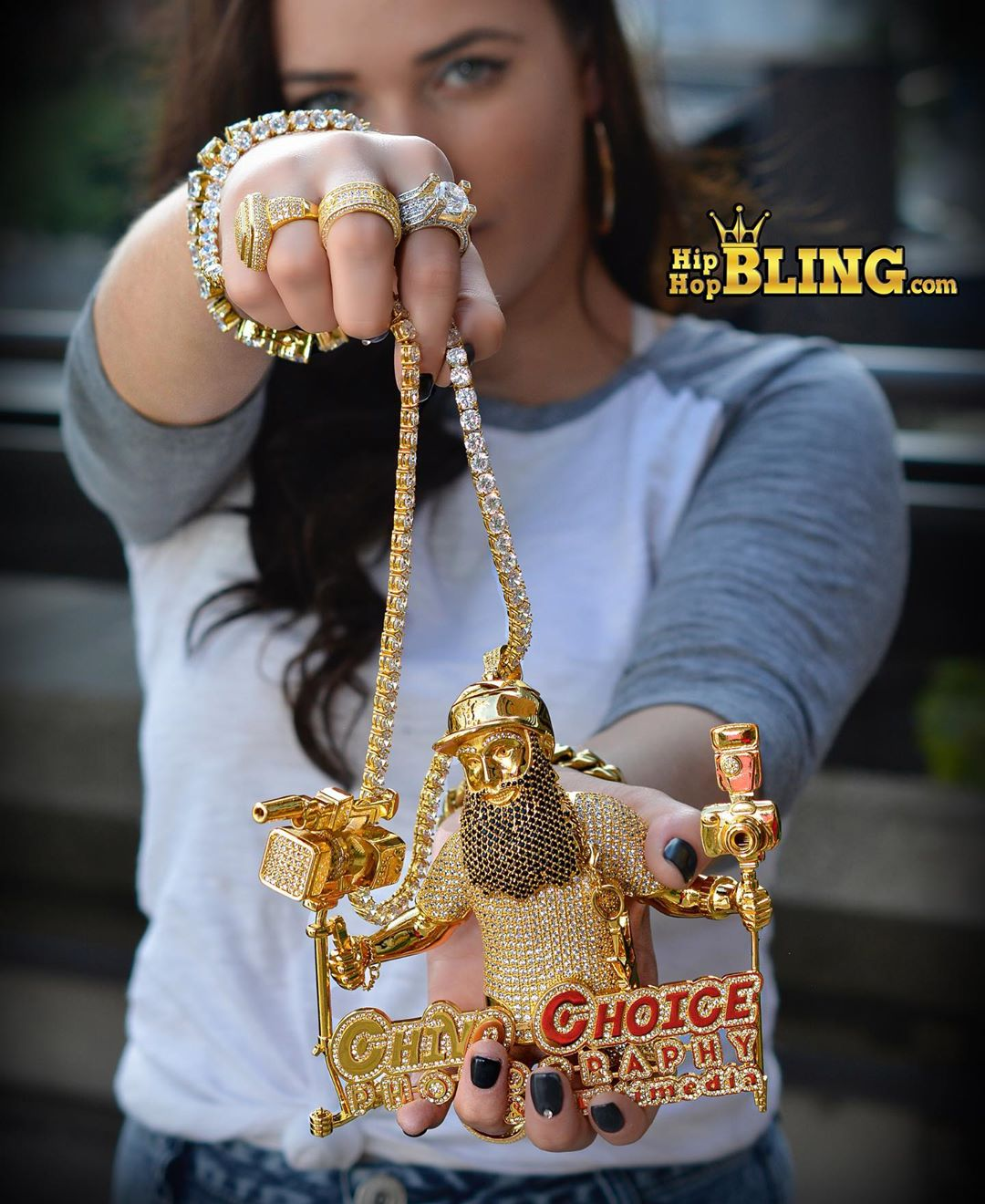 Custom work with ALL metals, get in touch with us at Hip Hop Bling this holiday season