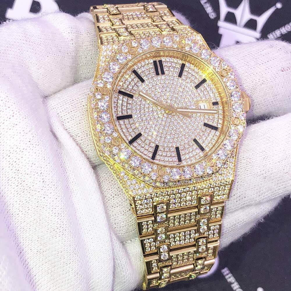Simulated diamond watch, beautiful and pure ice from Hip Hop Bling